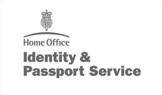 Home office identity and passport service logo